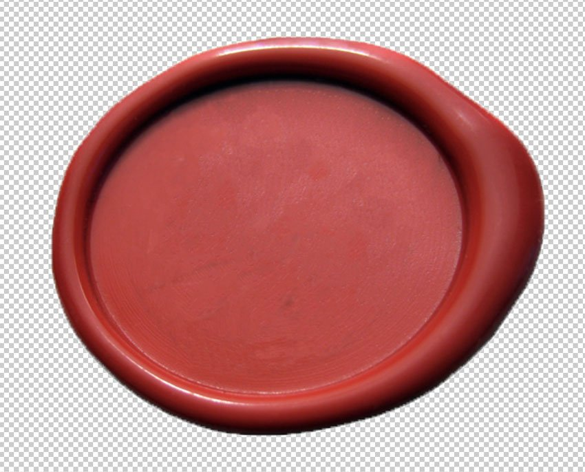 Wax seal background remove