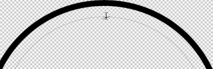 Horizontal Type Tool cursor