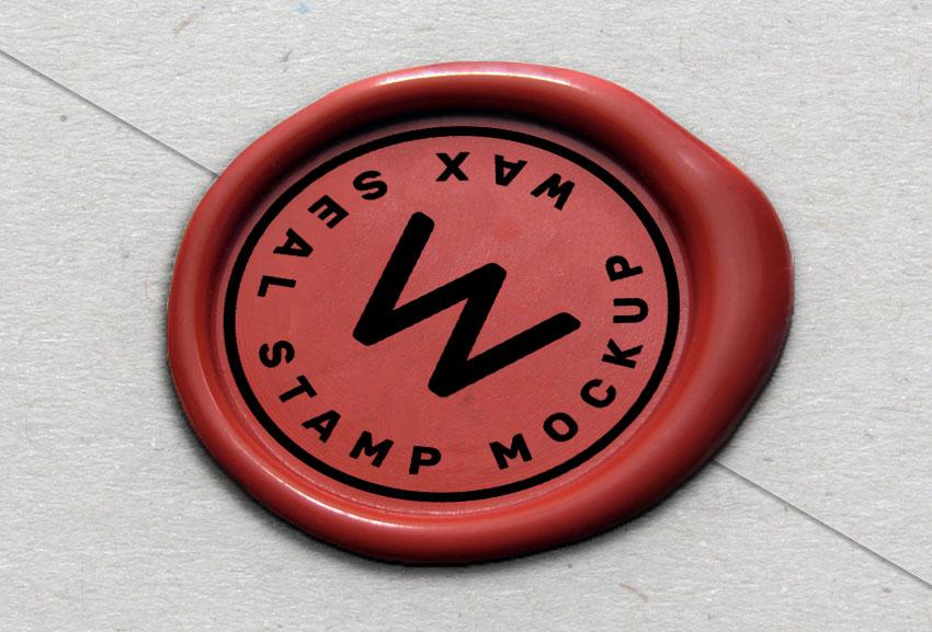 Wax seal mockup