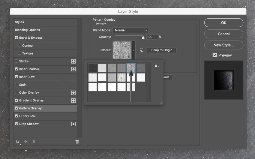 Pattern Overlay style panel