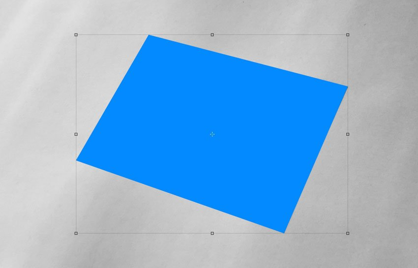 Rectangle on perspective image