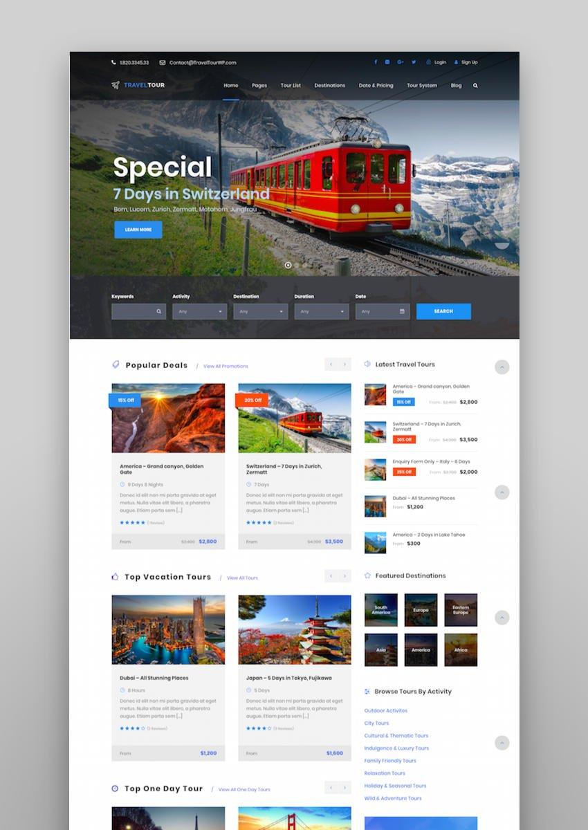 Travel Tour - Tour Booking Travel WordPress Theme
