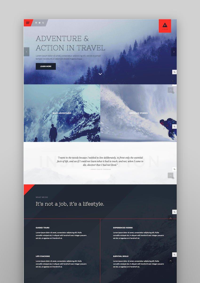 Gnar - Action Adventure Travel WordPress Theme