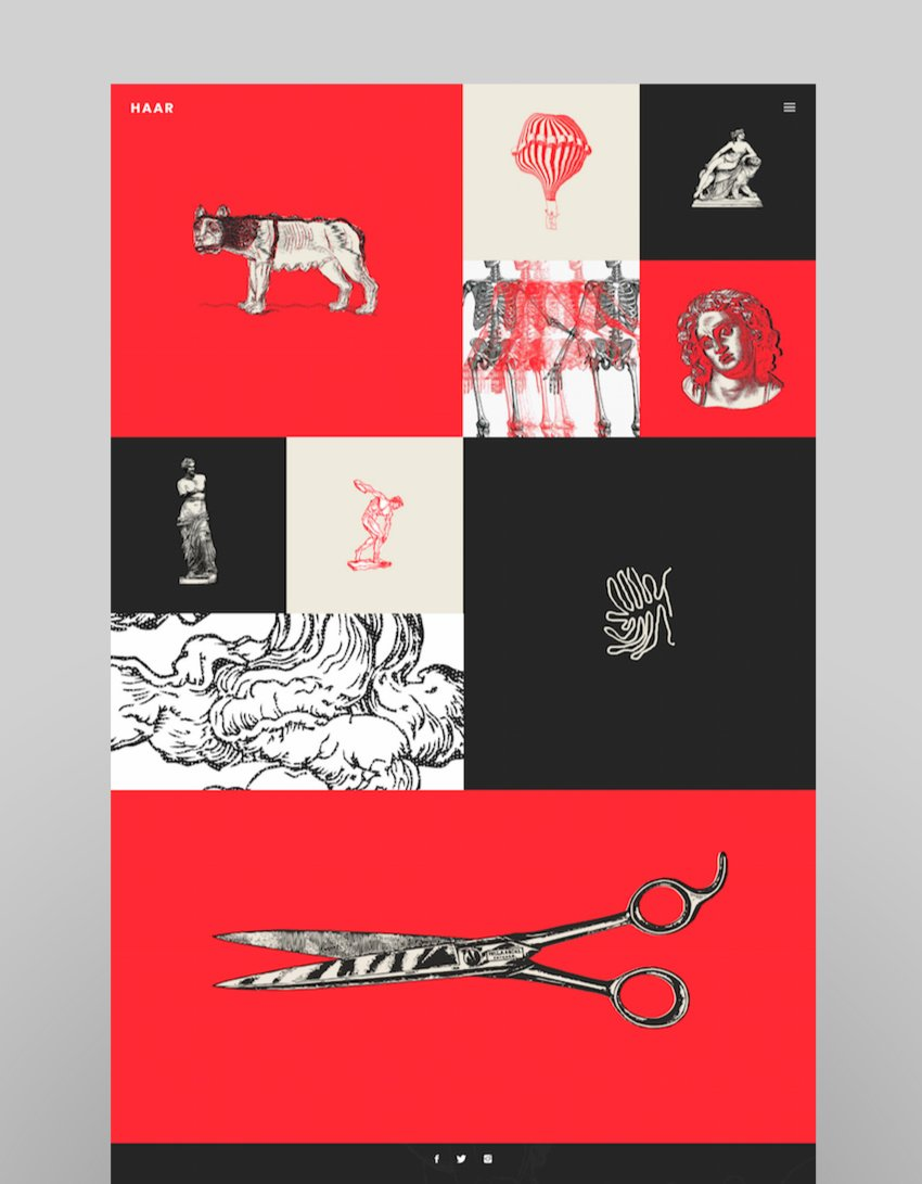 Haar - A Portfolio Theme for Designers Artists and Illustrators