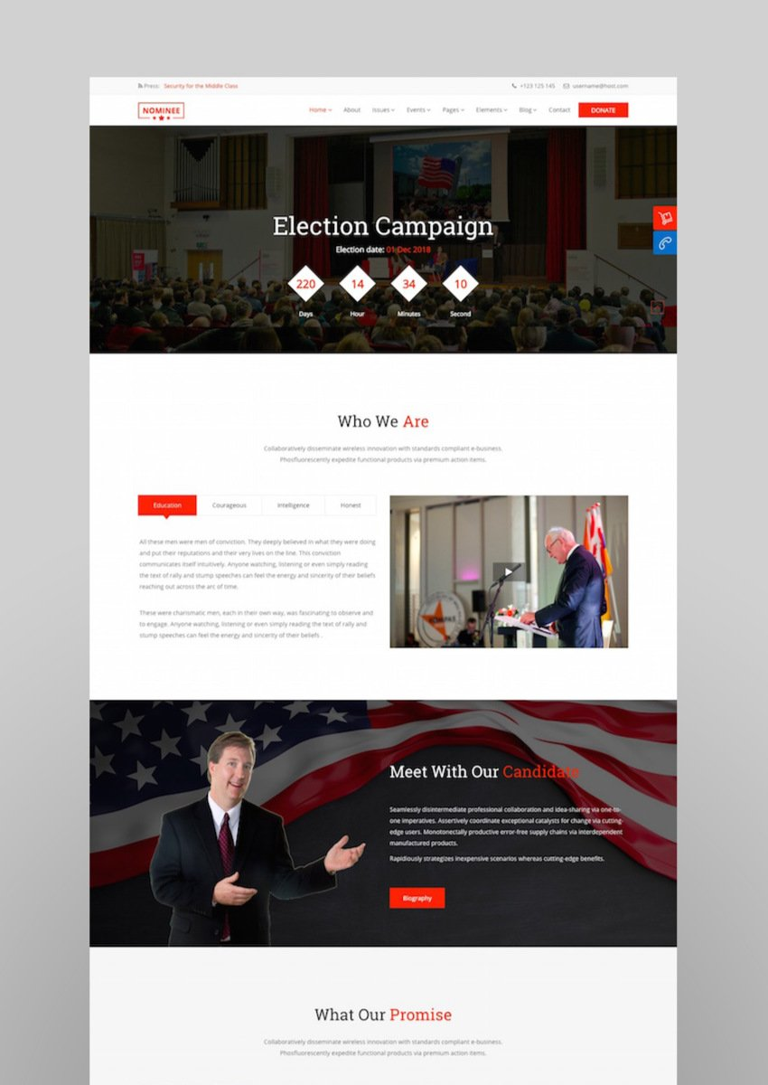 Nominee - Political WordPress Theme for CandidatePolitical Leader