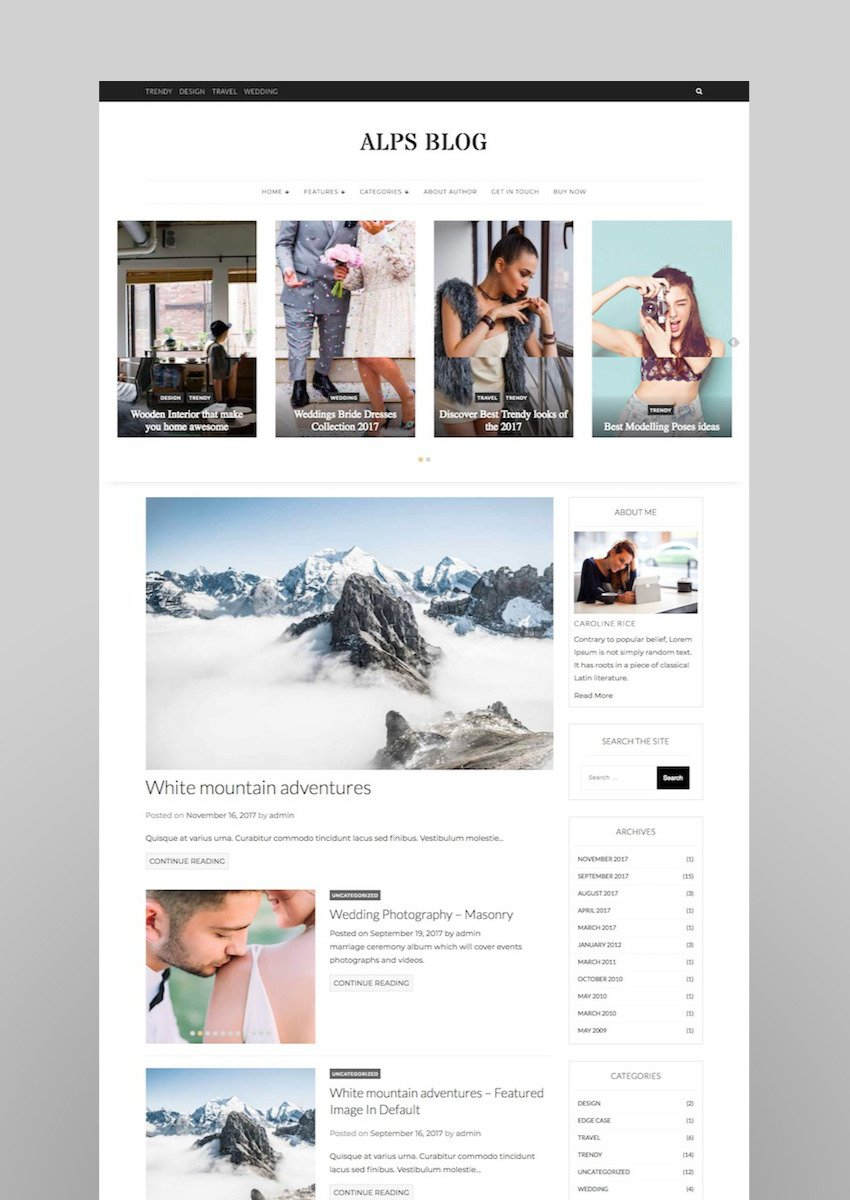 Alps Blog - Lifestyle Blog Magazine WordPress