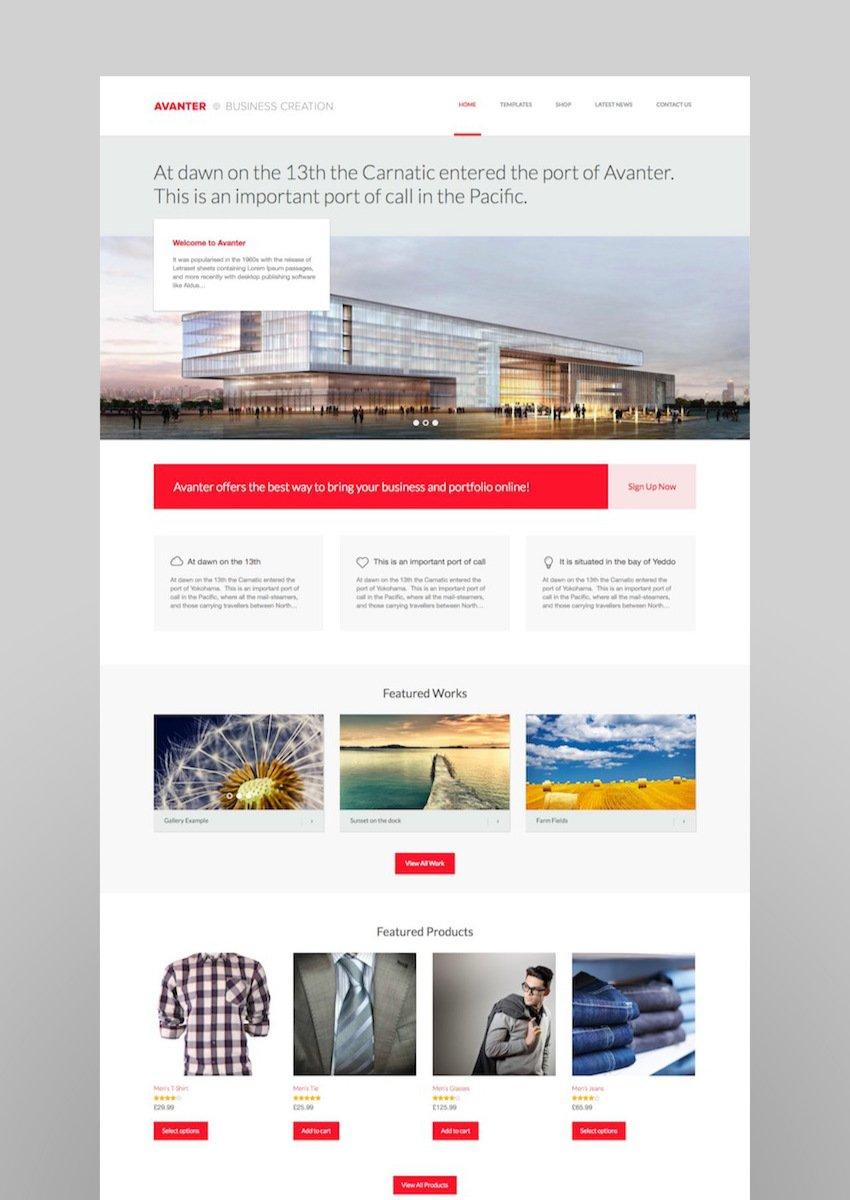 Avanter - Corporate  ArchitectureTheme
