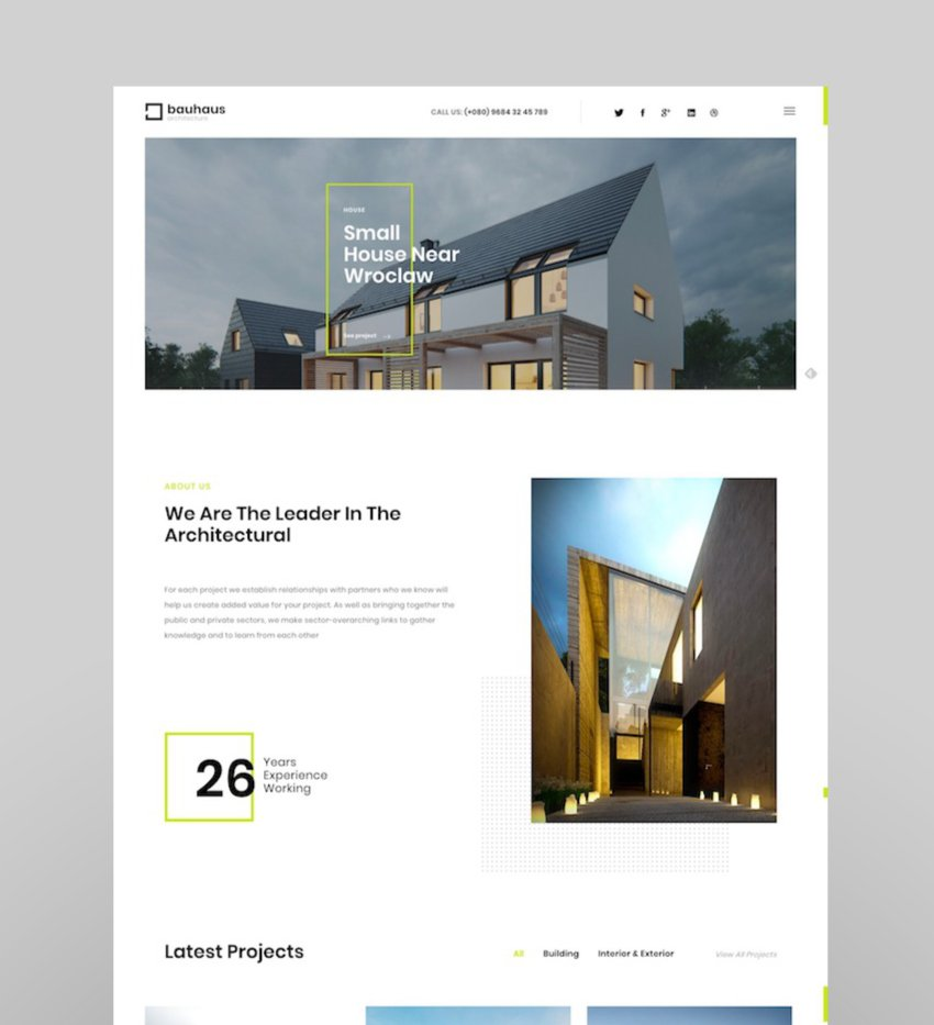 Bauhaus - Architecture  Interior WordPress Theme