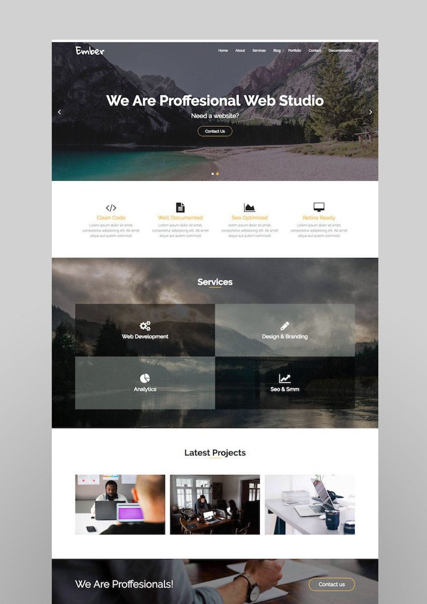Ember - Digital Marketing Agency WordPress Theme