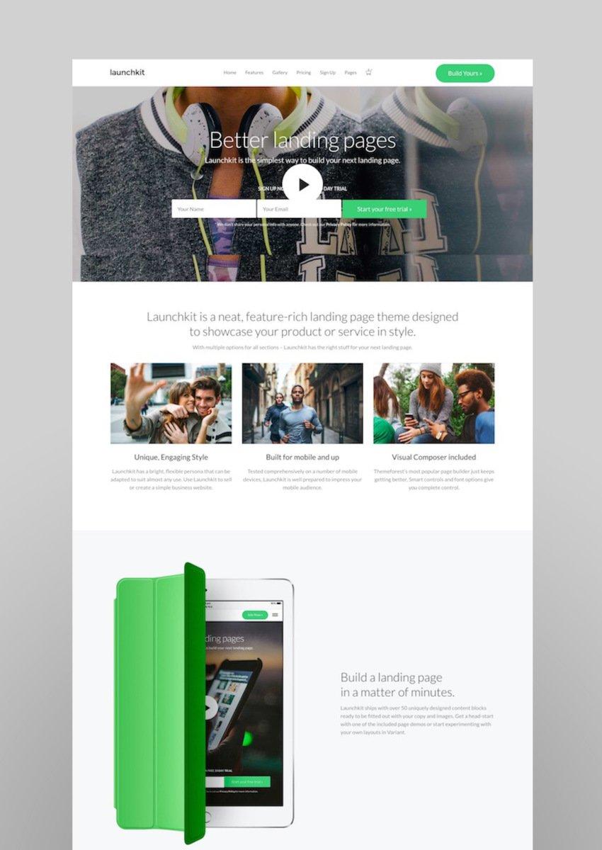 Launchkit Landing Page Marketing WordPress Theme