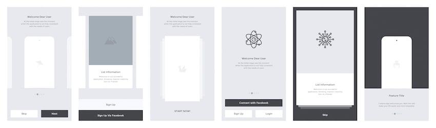 Codama iOS Wireframe UI Kit