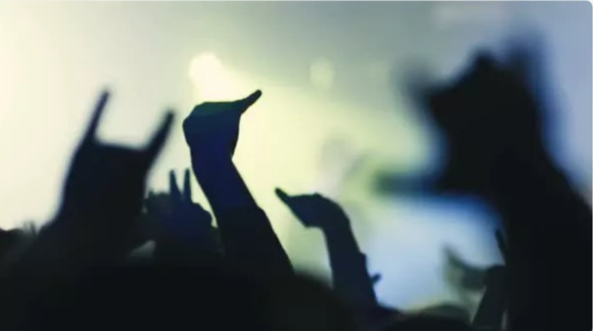 Nightlife People Crowd At Concert Or Club Party