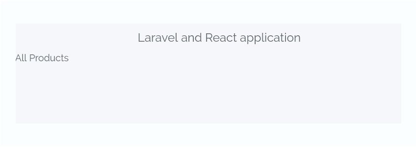 Laravel and React running together