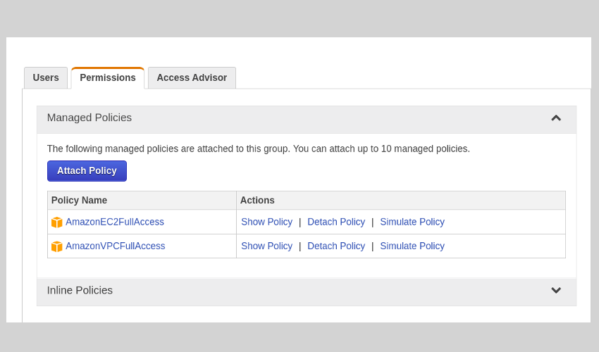 Create a user group with the right permissions