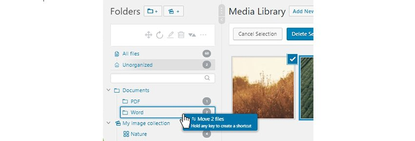 Creating Folders WordPress Real Media Library