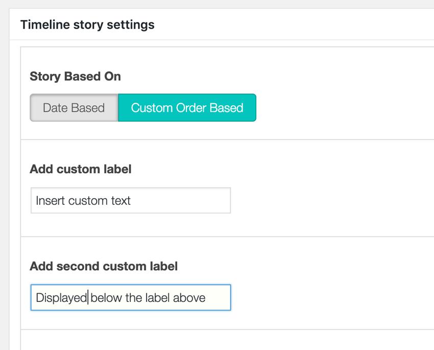 Timeline Story Settings Custom Order Based