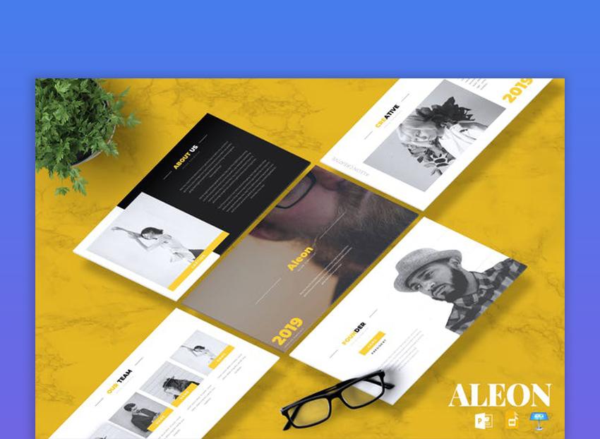 ALEON - Creative Powerpoint Google Slides Keynote
