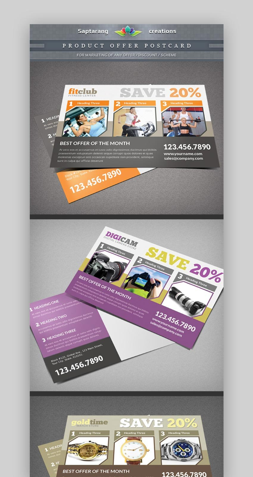 Product Offer Postcard Flyer