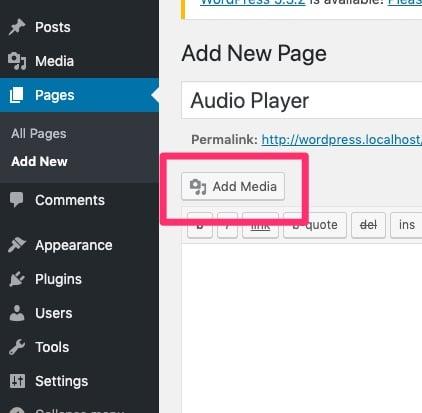 Añadir medios al plugin de reproductor de audio WavePlayer