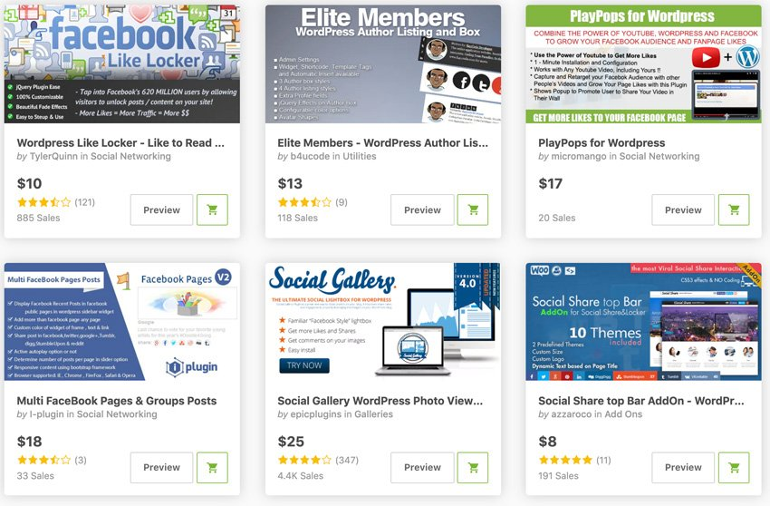 Facebook WordPress widget plugins