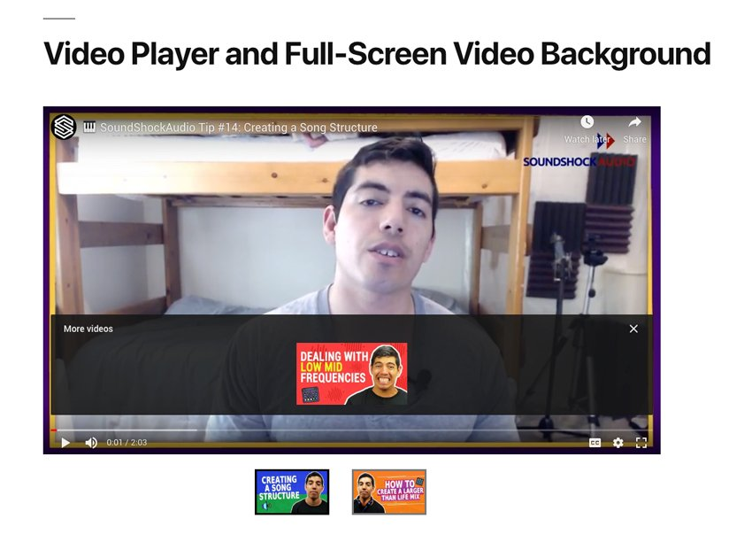 Video Player  FullScreen Video Background