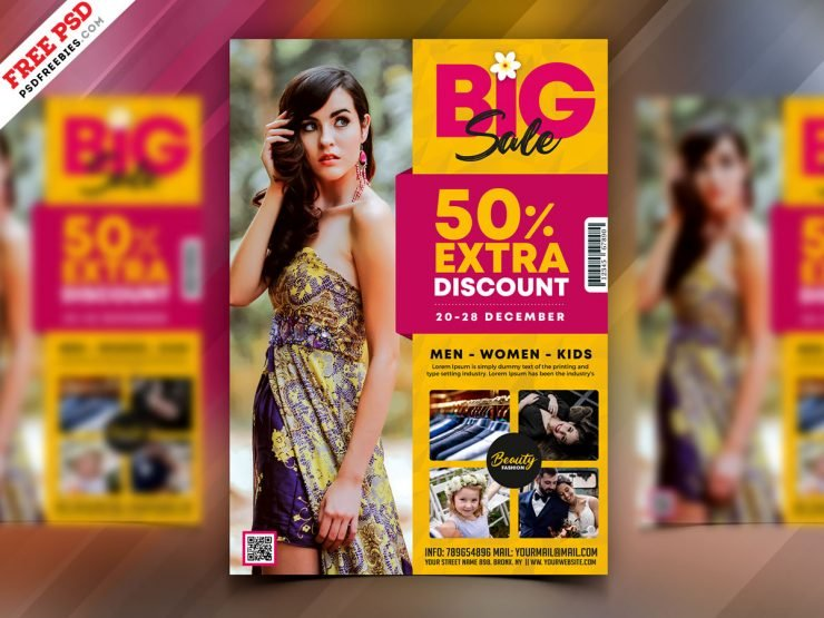 Fashion Big Sale Flyer Template