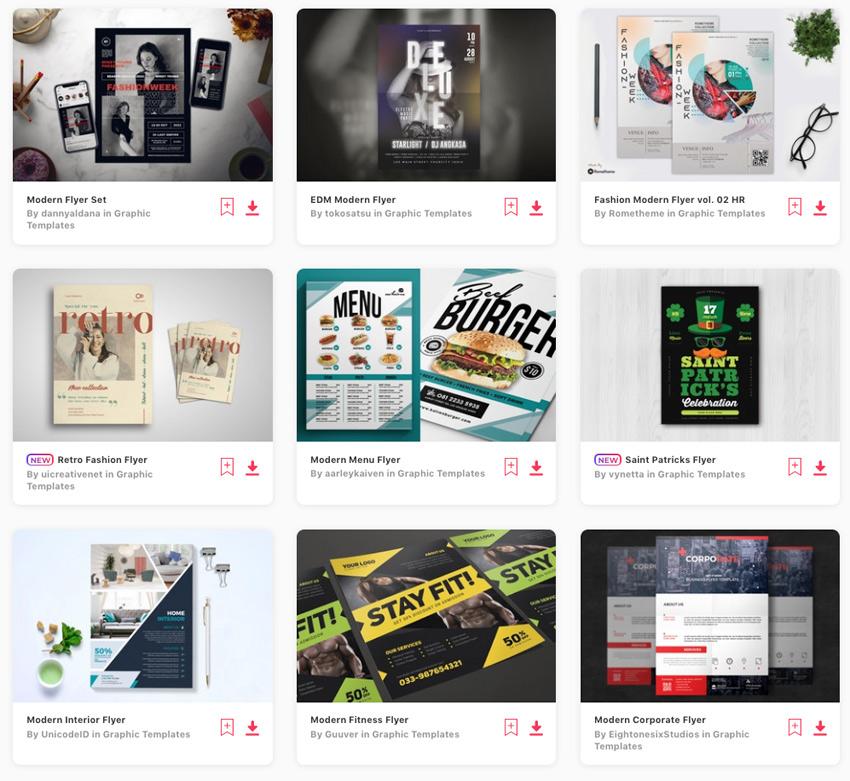 Best-Selling Modern Flyer Designs on Envato Elements