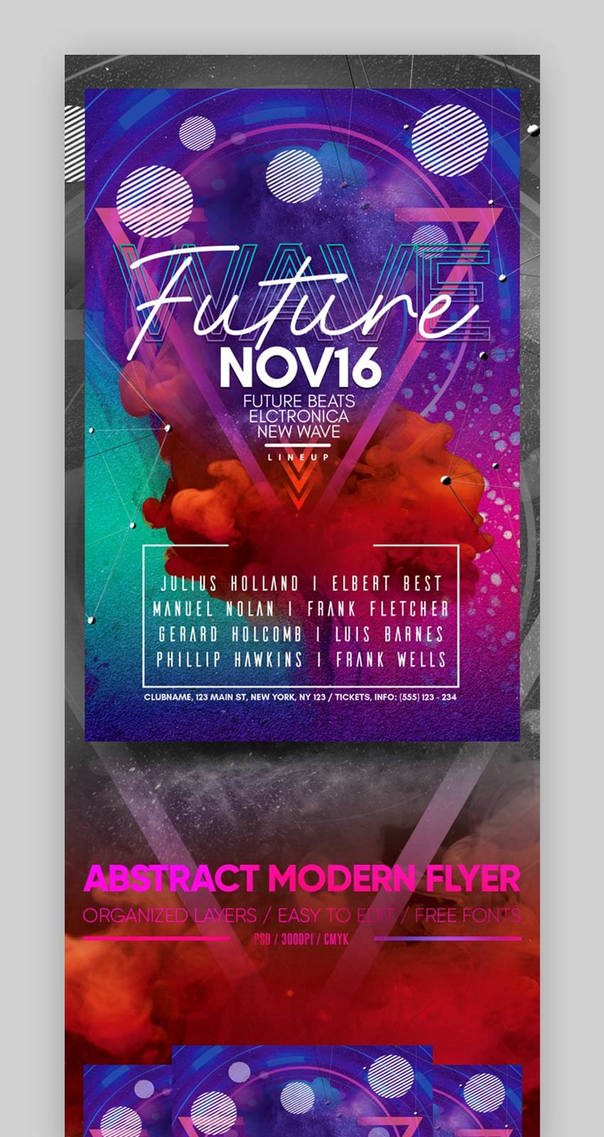 Abstract Modern Flyer