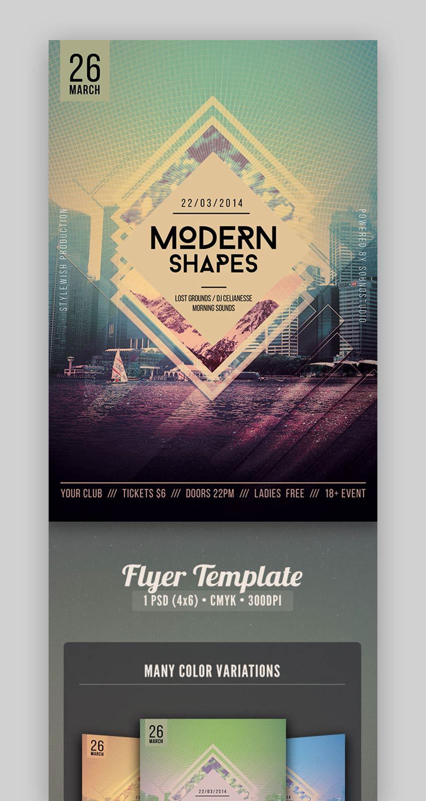 Modern Shapes Flyer