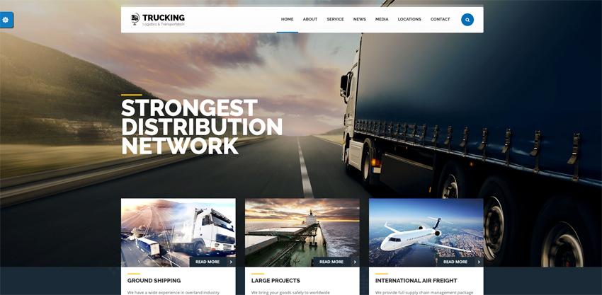 Trucking - Transportation  Logistics WordPress