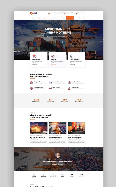 AWB - Transport Logistics WordPress Theme