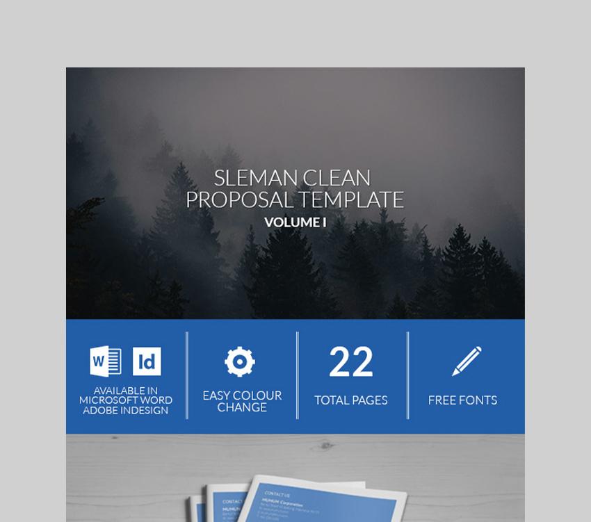 Sleman Clean Proposal Template