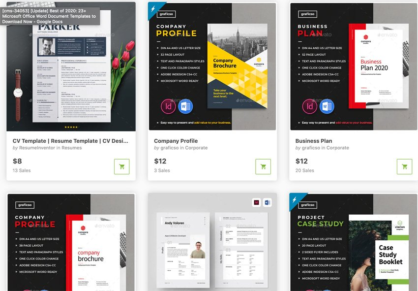 Best-selling Microsoft Word templates for 2020