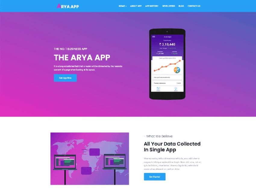 Arya Multipurpose Free SaaS WordPress Theme