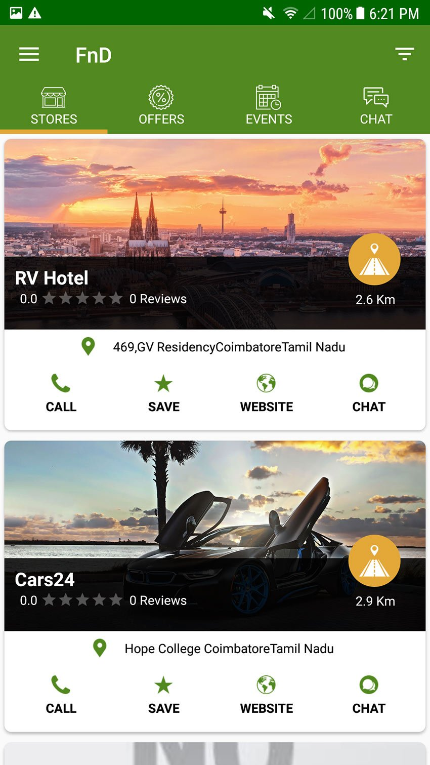 FND - On-Demand Nearby Shops  Stores Finder