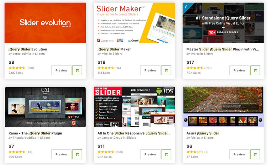 Best-Selling jQuery Image Sliders Available On CodeCanyon