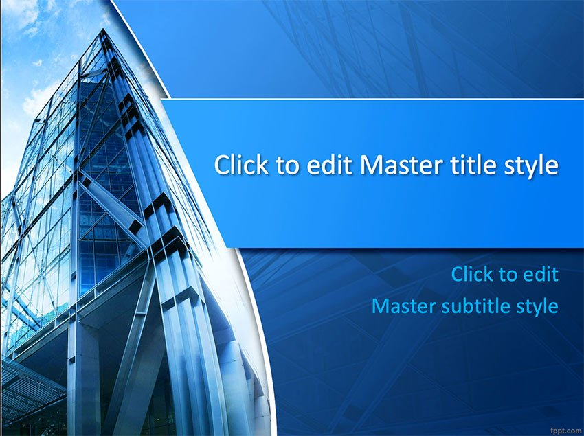 Corporate Headquarters Powerpoint Template