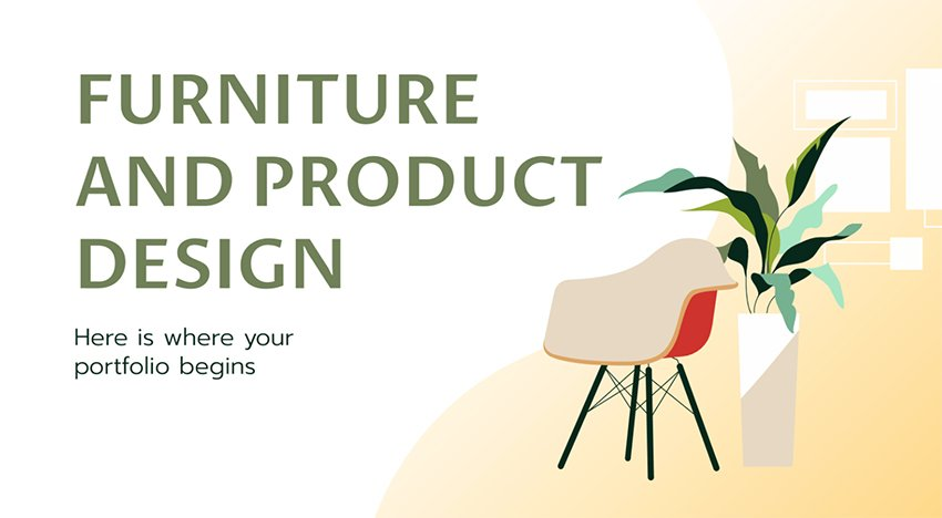 Furniture and Product Design Portfolio Presentation