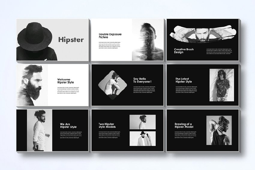Hipster PowerPoint Template
