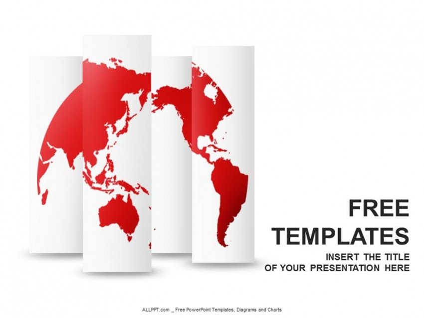Editable World Map PowerPoint Free Download