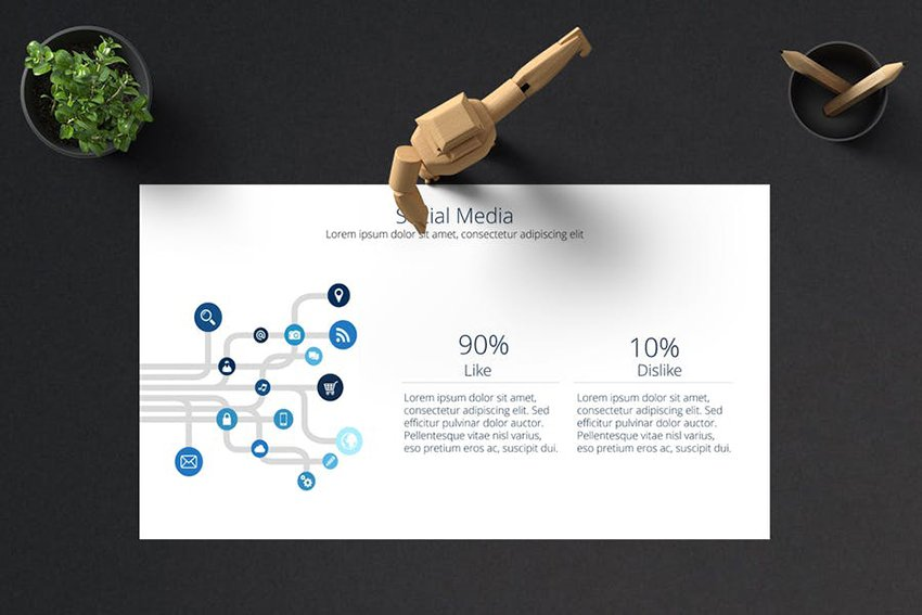 Modern graphics in a template