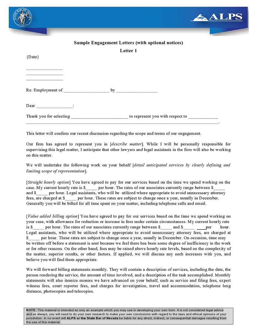 Engagement Letter Samples
