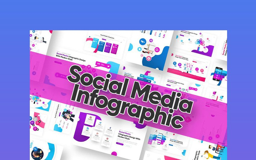 Social Media Infographic Powerpoint Template