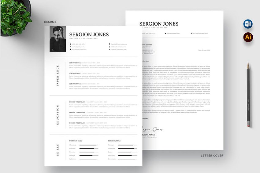 CV Resume Ms Word Template