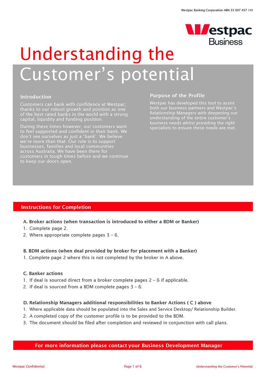 Customer Profile Templates