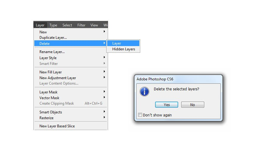 Delete selected layers and groups