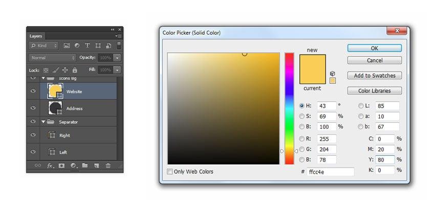Set website color