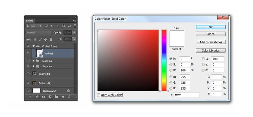 Set address icon color