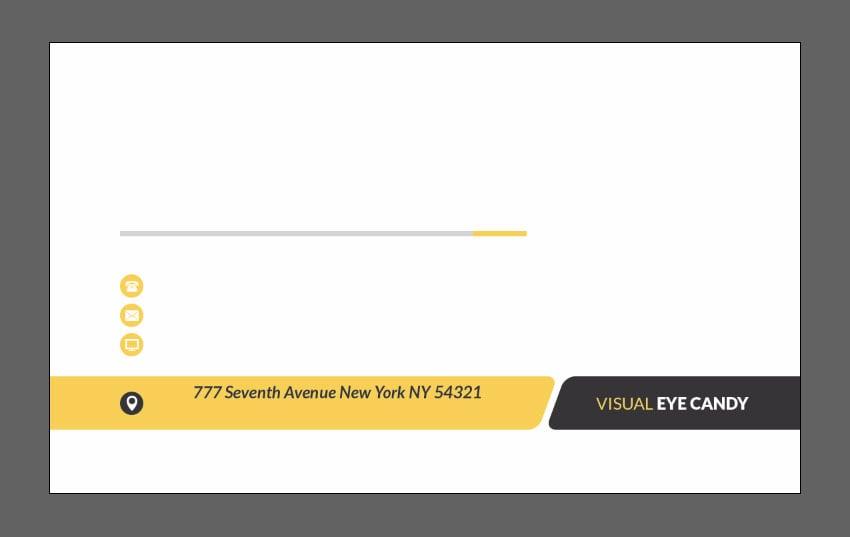 Create address text layer