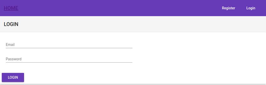 Finished login UI